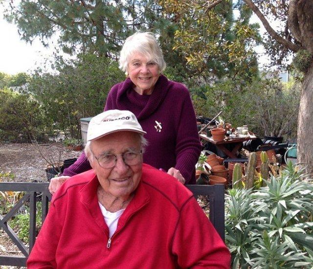Bruce & Dorchen in the Garden